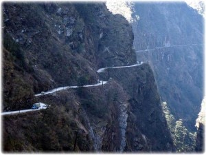 A section of highway in Nepal. Image source: Google