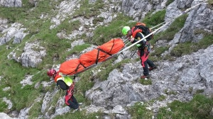 Intervento del Soccorso Alpino (Photo courtesy of Cnsas Lombardia)
