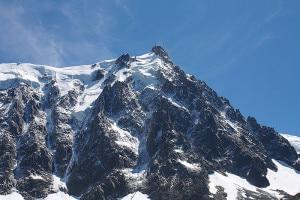 Aiguille du Midi, parete nord (Photo courtesy of Reza on Flickr/Wikimedia Commons)