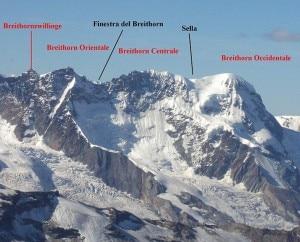 Monte Breithorn, versante elvetico (Photo courtesy of Francofranco56 on Wikimedia Commons)