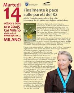 Photo of Finalmente è pace sulle pareti del K2: il 14 ottobre Mirella Tenderini a Milano
