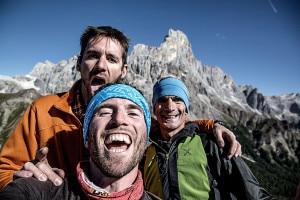 La Guida alpina Eric Girardini, Matteo Mocellin e Manolo (Photo Photo Matteo Mocellin/Stroyteller-labs)