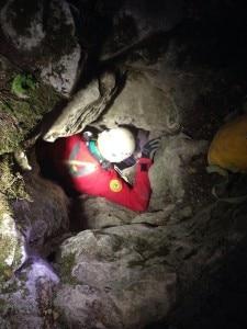 L'intervento nella grotta Schiaparelli (Photo courtesy of Cnsas Lombardia)