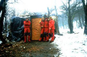 Photo of Salvaterra, Sarchi, Giarolli e Caruso al Cerro Torre: la foto di 30 anni fa