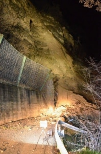 La frana verificatesi ieri sera tra Trambileno e Rovereto (Photo courtesy of Trentino-Corriere delle Alpi)