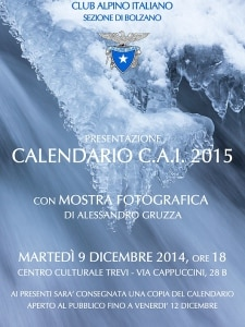 Photo of Cai Bolzano, l'acqua è il tema del calendario 2015