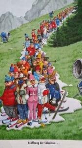 Photo of (English) Tutti in coda con sci e scarponi. In attesa della neve che non c'è…