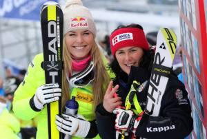 Lindsey Vonn e Daniela Merighetti (Photo courtesy of Alessandro Trovati/Pentaphoto/Fisi)