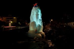 Photo of Ice climbing sulle fontane di ghiaccio di Ortisei