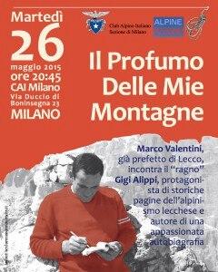 """Photo of Cai Milano, Gigi Alippi presenta """"Il profumo delle mie montagne"""""""