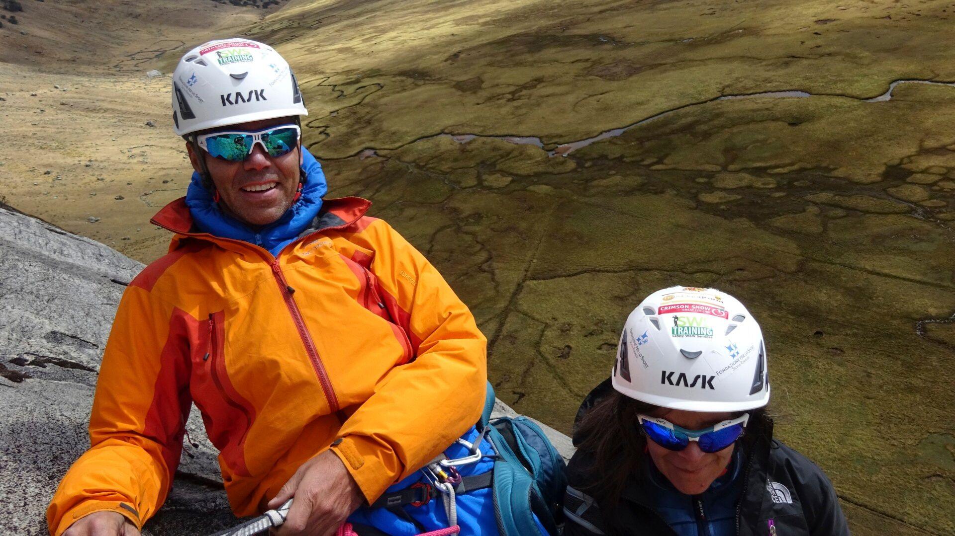 Photo of Cordillera Blanca, Silvia Rinaldi e Kevin Ferrari, atleti disabili, alle prese con l'apertura di nuove vie