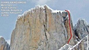"""Photo of Stellare Patagonia: in freeclimb Yokoyama e Nagato liberano """"Pilar Canino"""" del Cerro Piergiorgio ed aprono una nuova via sulla Aguja El Tridente"""