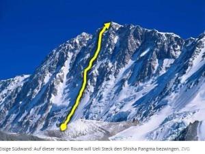 La via che tenteranno di aprire Ueli Steck