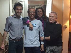 Efrem Ferrari, Simone Moro, Tamara Lunger ed Agostino Da Polenza