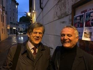 Agostino Da Polenza con Roberto de Martin, presidente del Trento Film Festival