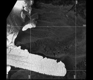 Distacco avvenuto: i due iceberg