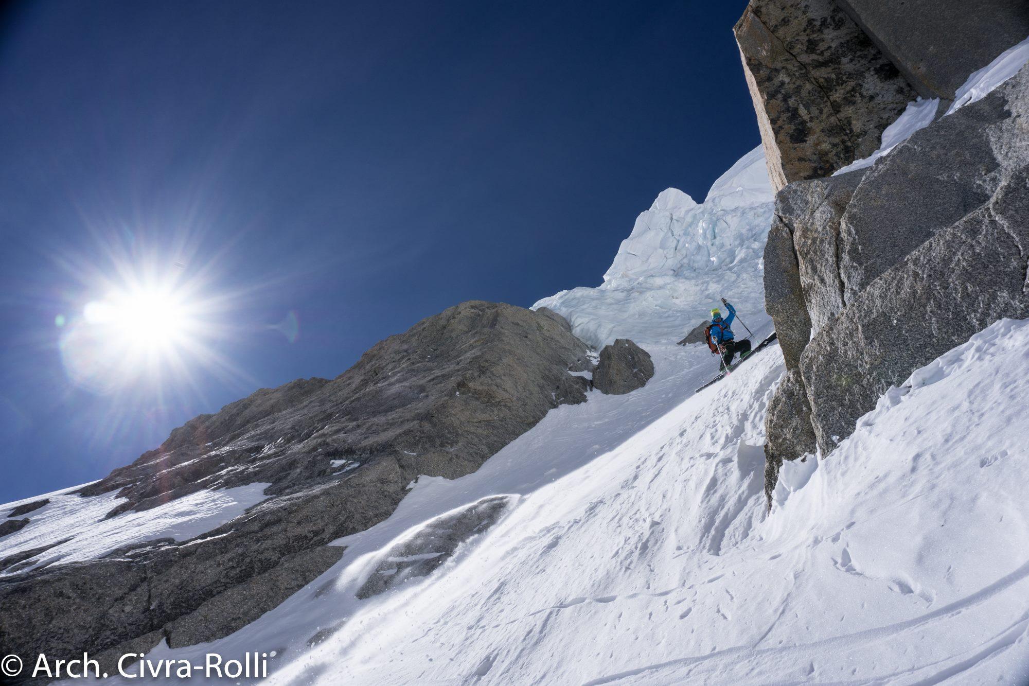 Photo of Monte Bianco, la Major in salita e discesa con gli sci