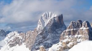 Vista dal Passo Antermoia sul Catinaccio e le Torri del Vajolet