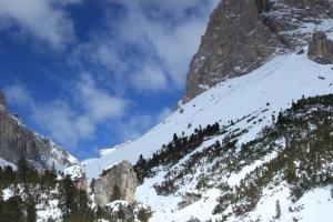 Il paesaggio alla partenza della gita