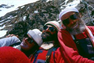 Agostino Da Polenza, Tullio Vidoni e Gianni Calcagno in una foto scattata da Benoit Chamoux