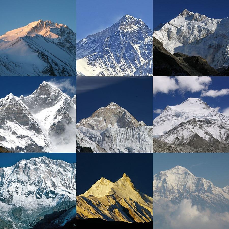 Photo of Annapurna, Cho Oyu, Dhaulagiri, Everest, Kangchenjunga, Makalu, Lhotse, Manaslu e Shisha Pangma. Primavera 2016: fine stagione
