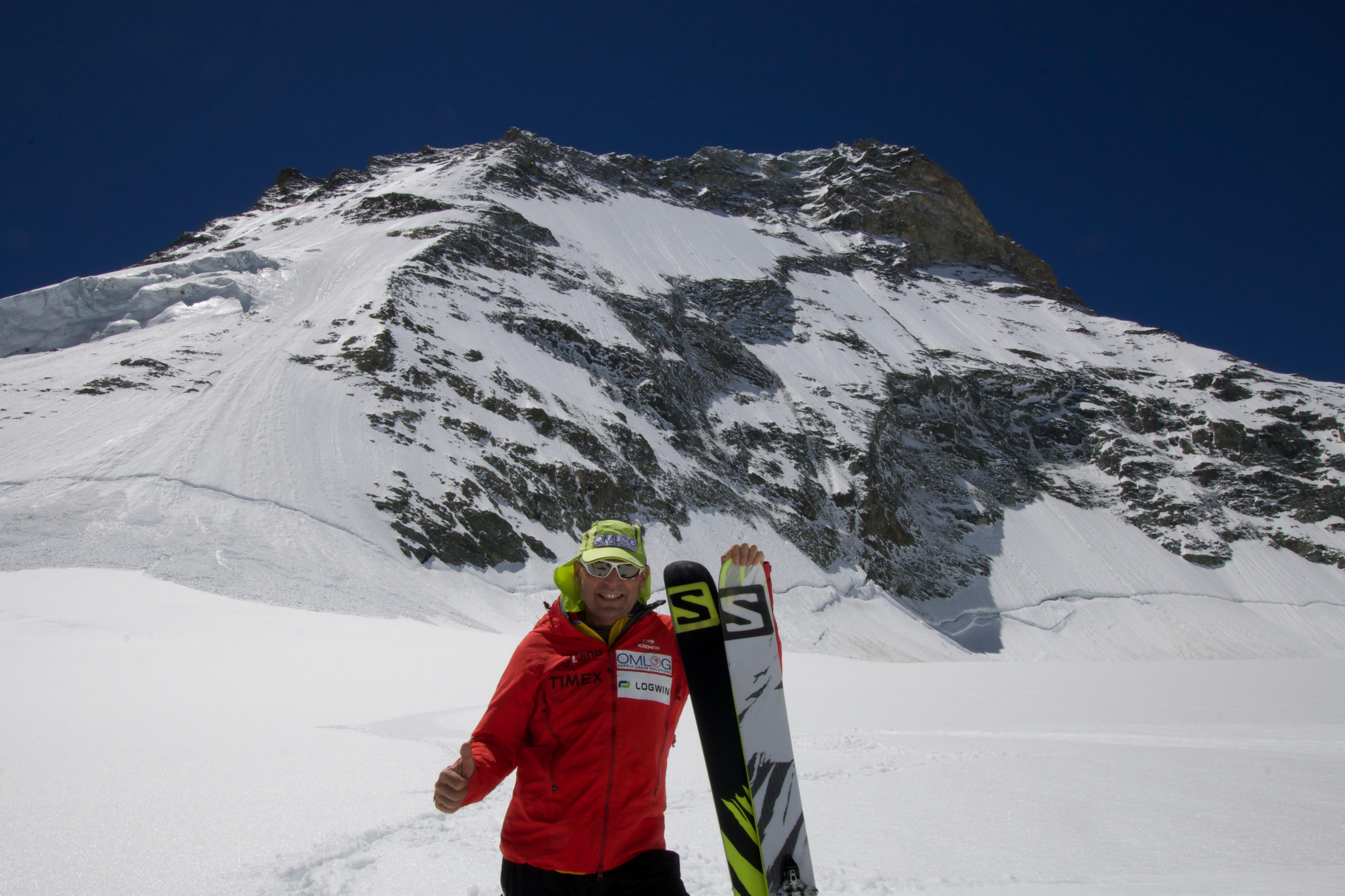 Photo of Prima discesa con gli sci della parete nord della Dent Blanche per Edmond Joyeusaz