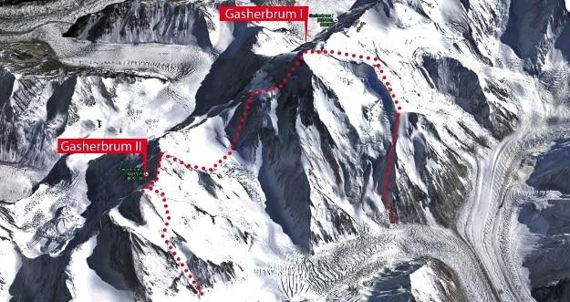 """Photo of Spedizione polacca prova la """"traversata dei Gasherbrum"""""""
