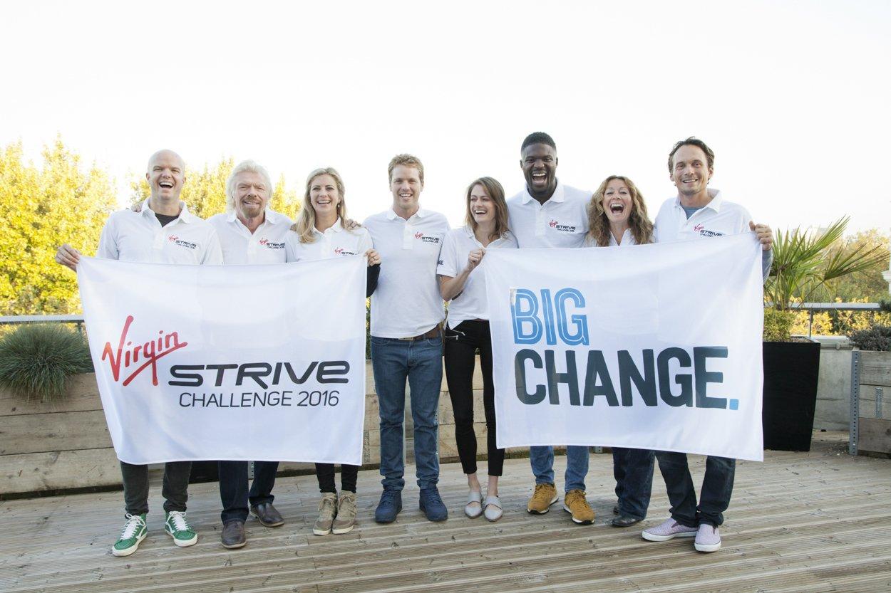 Photo of Richard Branson dal Cervino all'Etna per la Virgin Strive Challenge