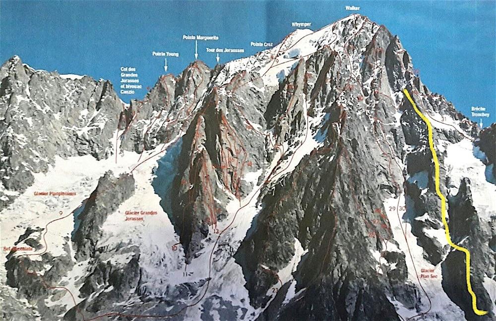 Photo of Monte Bianco, nuova via sulle Grandes Jorasses