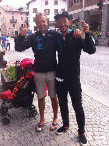 Edy con l'atleta giapponese Ken Maki, conosciuto sui sentieri del 4K