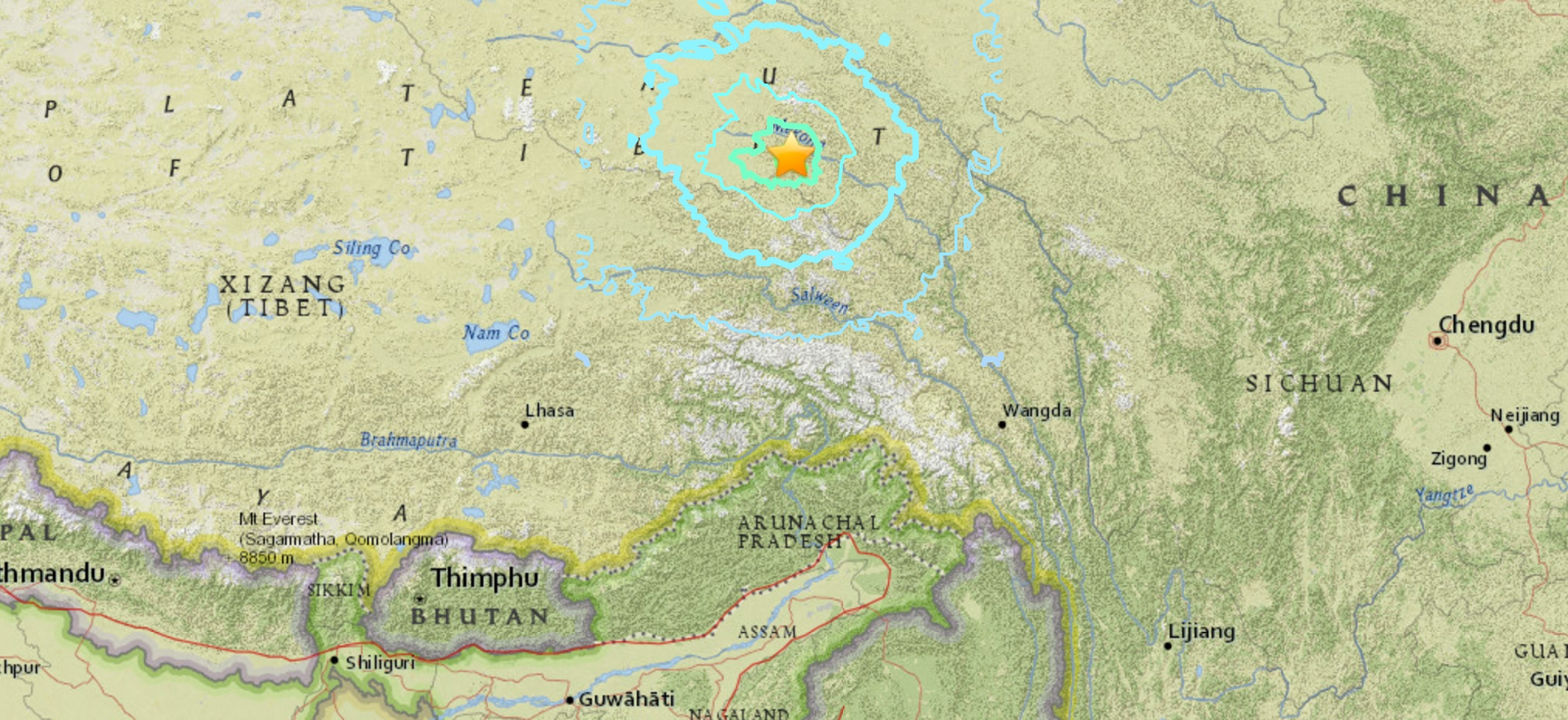 Photo of Terremoto di magnitudo 6.2 in Tibet