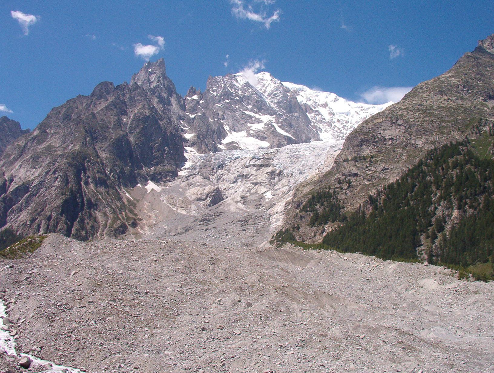 Photo of Ghiacciaio della Brenva: franati tra i 15 e i 35 mila metri cubi di materiale