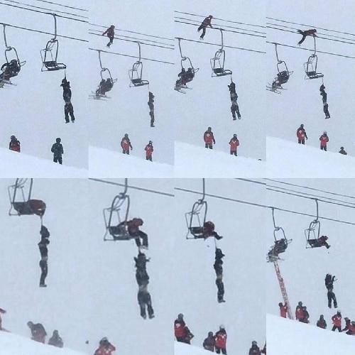 Photo of Slackliner cammina sul cavo per salvare la vita a sciatore rimasto appeso alla seggiovia