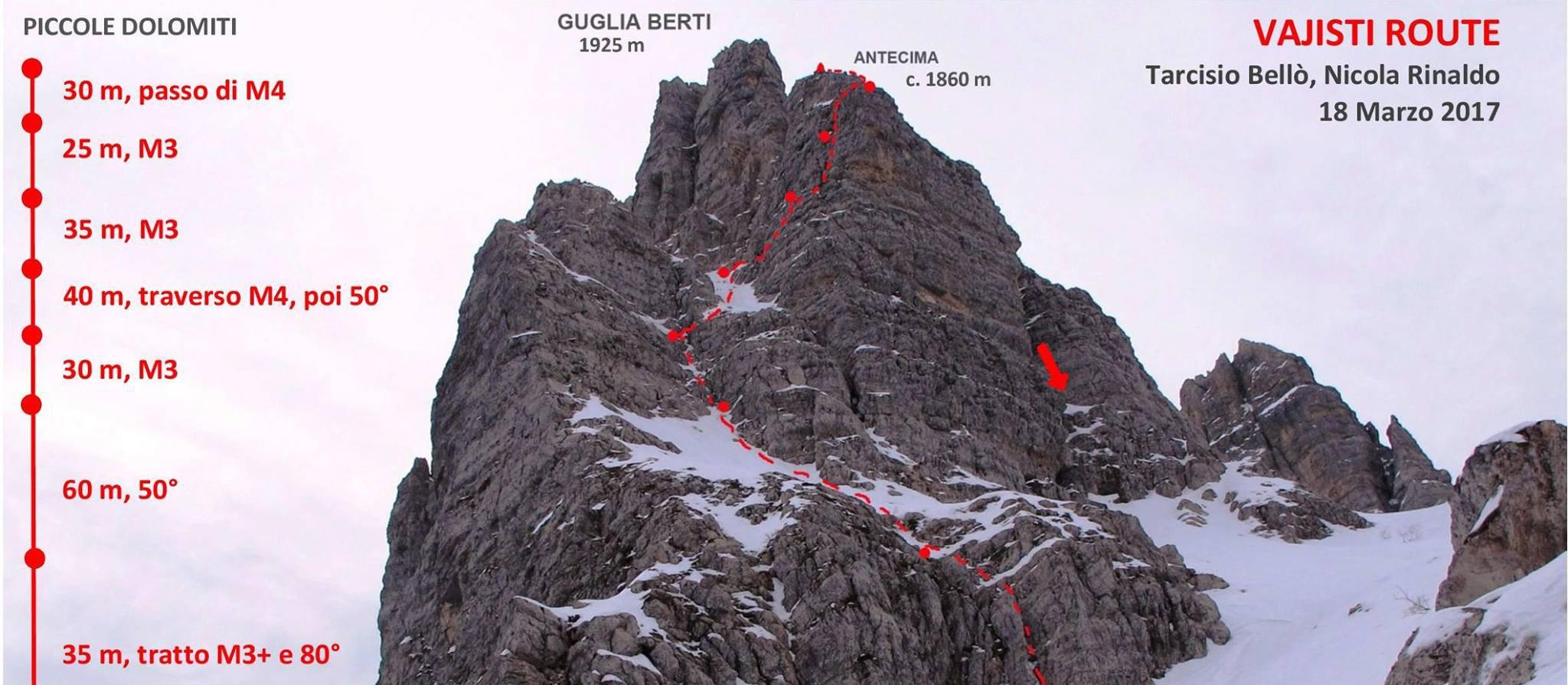 """Photo of """"Vajisti route"""", una nuova via nelle Piccole Dolomiti"""