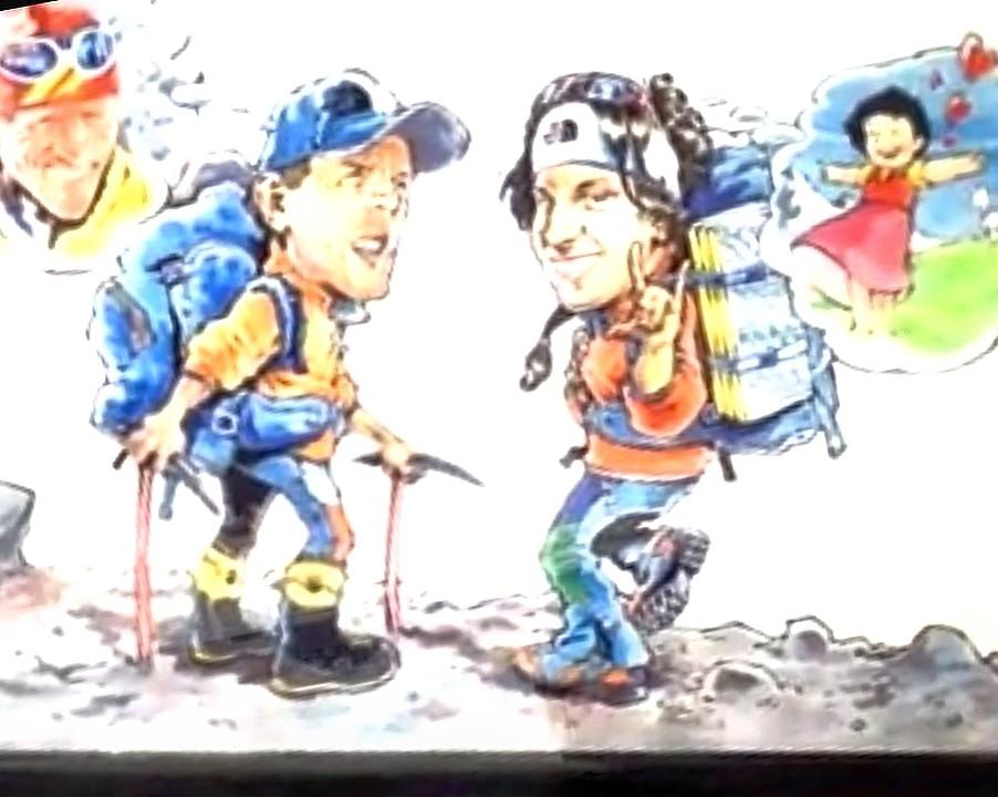 Photo of Cartoon Expedition per Simone Moro e Tamara Lunger