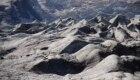 La fotografia illustra la diversa colorazione dei ghiacci @ Università Bicocca - dottor Giovanni Baccolo