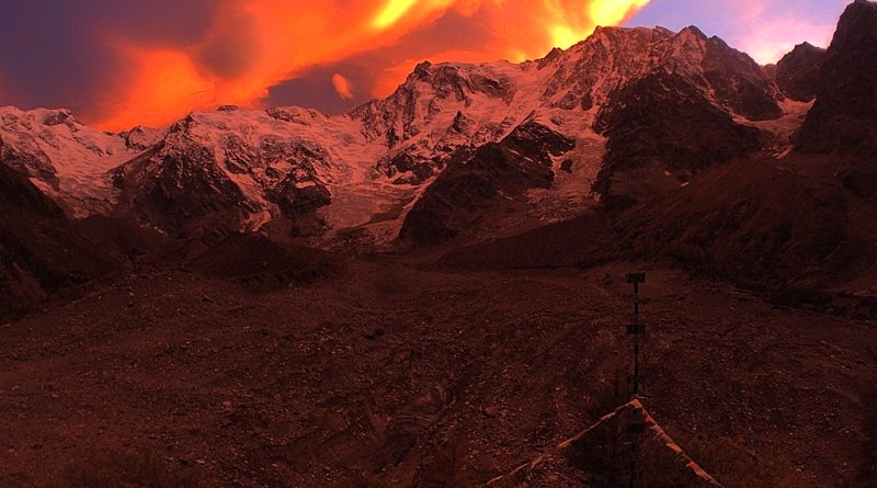 Photo of Lo spettacolare tramonto sul Monte Rosa