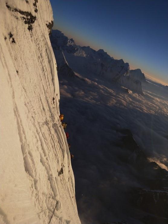 Photo of Ecco gli 8200 metri della parete sud del Lhotse