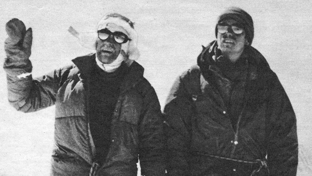 Photo of Le Guide Alpine di Courmayeur all'Annapurna III per una targa in  ricordo di Luigino Henry