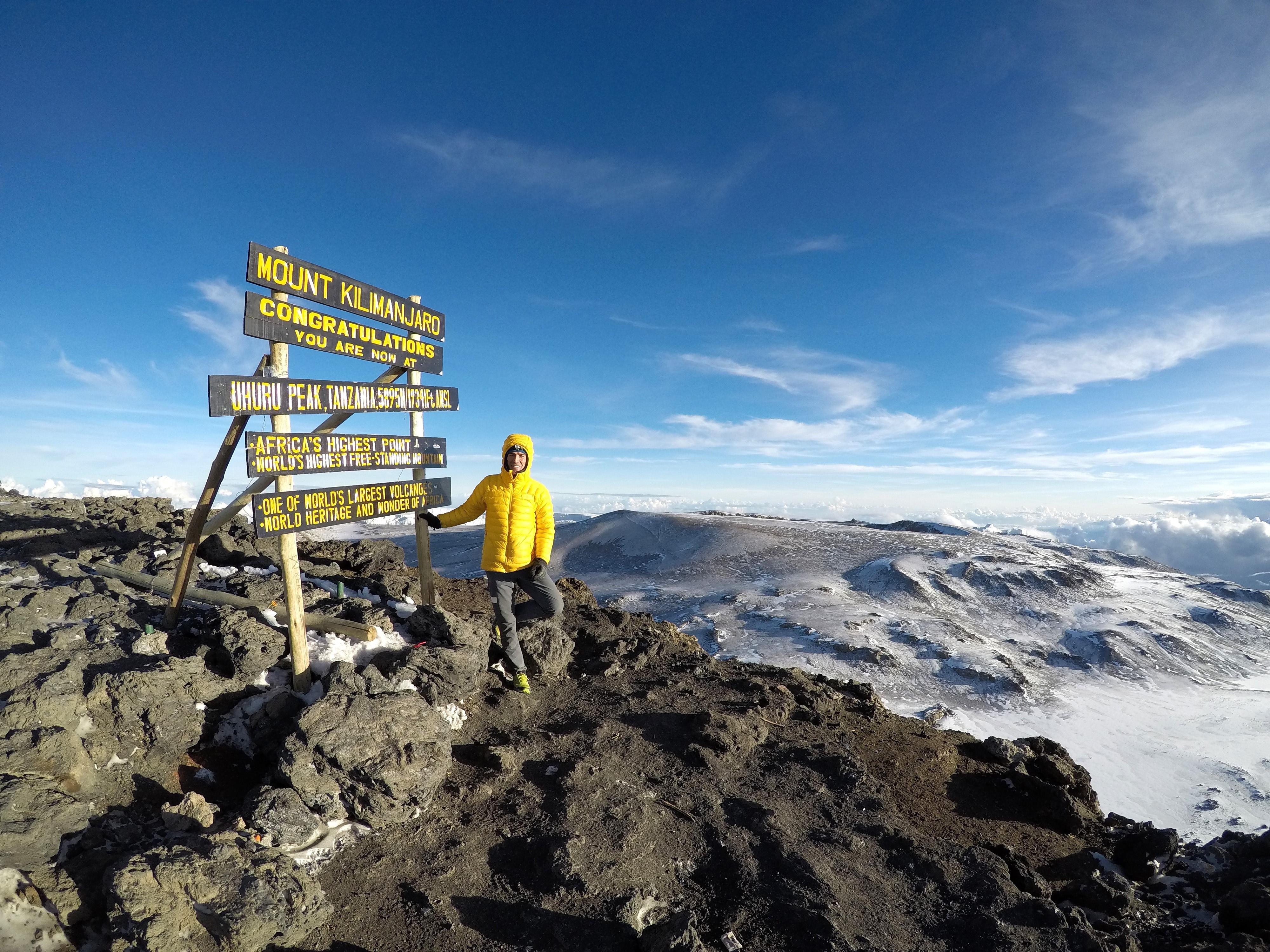 Photo of Hervé Barmasse sul Kilimangiaro