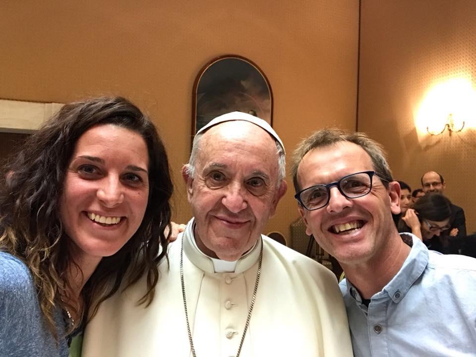 Photo of Selfie con Papa Francesco per Simone Moro e Tamara Lunger