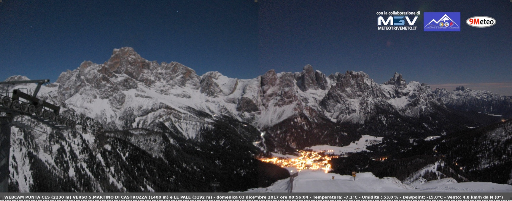 Photo of Nuova webcam HD panoramica con vista sulle Pale di San Martino e Valle del Primiero