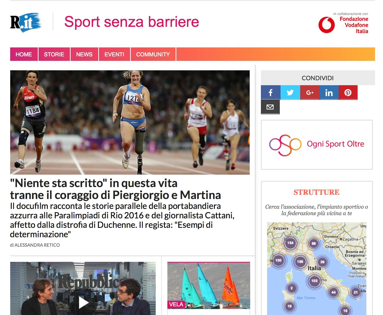 Photo of Sport e disabilità: per parlarne su Repubblica un nuovo spazio curato da Alex Zanardi