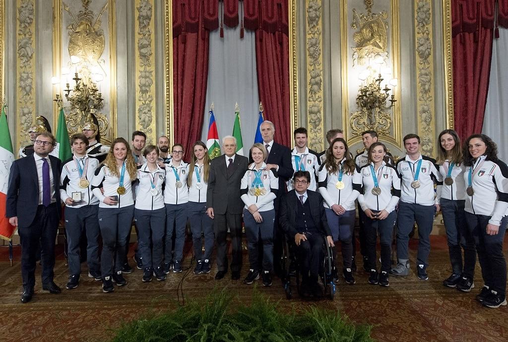 """Photo of Azzurri da Mattarella: """"Le tante medaglie femminili incoraggiano le ragazze del nostro Paese"""""""