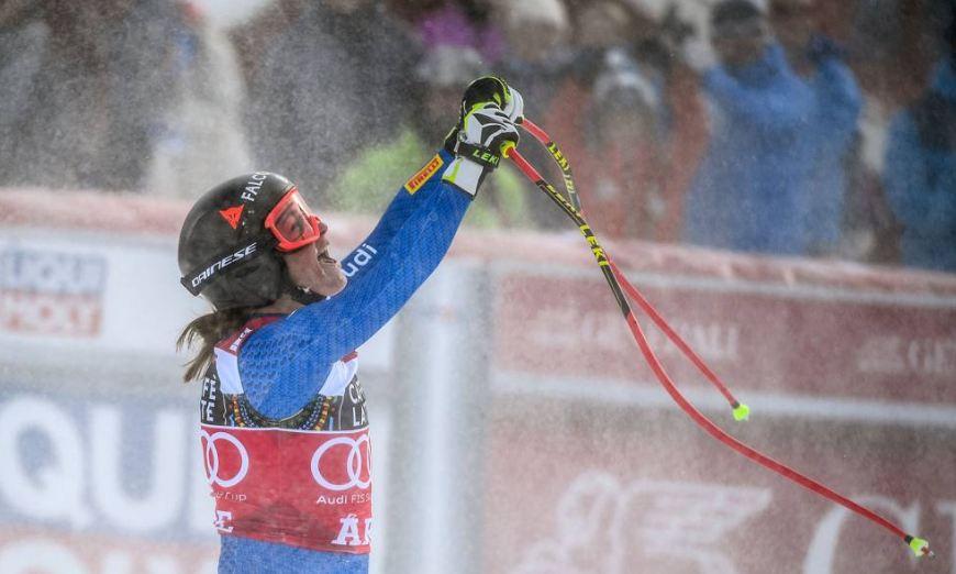 Photo of Sofia Goggia vince la Coppa del Mondo di discesa dopo un duello con Lindsay Vonn
