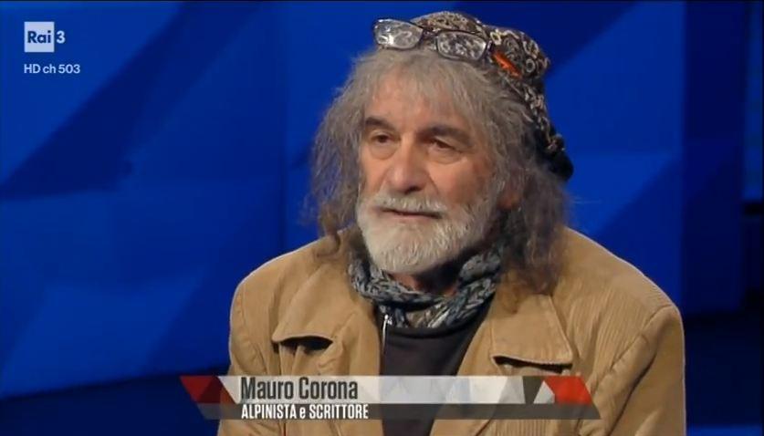 Photo of L'Amore, la montagna, la politica e l'infanzia: Mauro Corona scatenato a Rai Tre