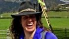 Tamara Lunger durante la tappa del 31 marzo. Foto @ Red Bull Adventure