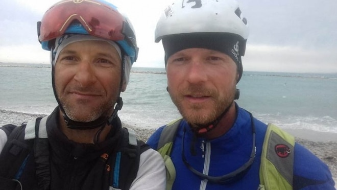 Gomola, Golec, Alpi, Traversata, scialpinismo, bike