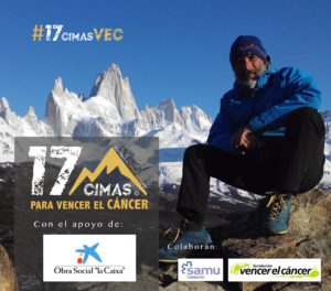 Javier Campos, 17 Cimas, Ricerca sul cancro, beneficenza
