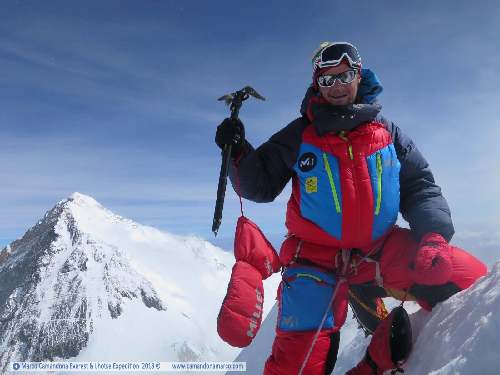 """Photo of Marco Camandona dal campo base: """"Finalmente sono salito sulle 6 montagne più alte del mondo!"""""""